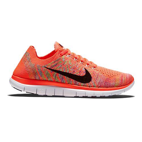 Womens Nike Free 4.0 Flyknit Running Shoe - Lava 9
