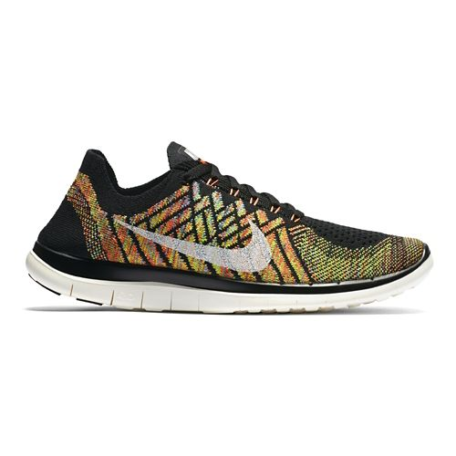 Womens Nike Free 4.0 Flyknit Running Shoe - Violet 6.5