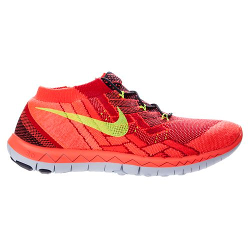 Mens Nike Free 3.0 Flyknit Running Shoe - Bright Crimson 11.5