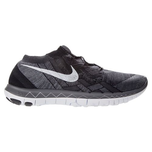 Mens Nike Free 3.0 Flyknit Running Shoe - Black 8.5