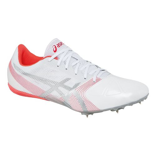 Womens ASICS Hyper-Rocketgirl SP 6 Track and Field Shoe - White/Pink 7