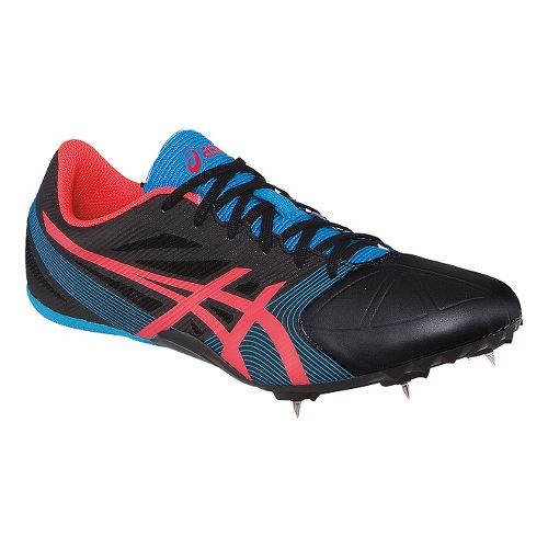 Womens ASICS Hyper-Rocketgirl SP 6 Track and Field Shoe - Onyx/Pink 9.5