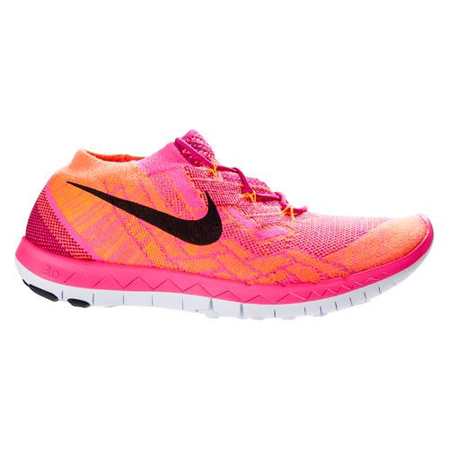 Womens Nike Free 3.0 Flyknit Running Shoe - Pink 7.5