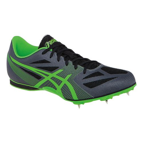 Mens ASICS Hyper MD 6 Track and Field Shoe - Grey/Flash Green 12.5
