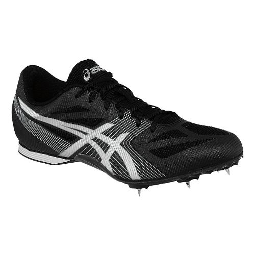 Mens ASICS Hyper MD 6 Track and Field Shoe - Onyx/Silver 4