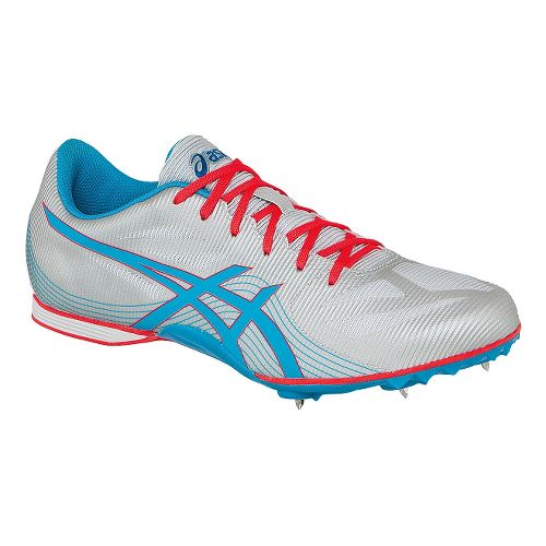 Womens ASICS Hyper-Rocketgirl 7 Track and Field Shoe - Silver/Atomic Blue 8