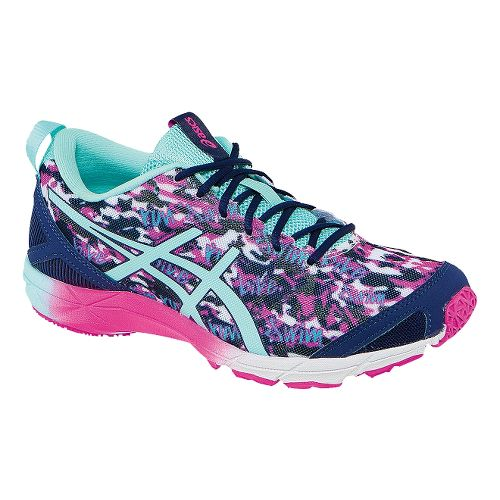 Womens ASICS GEL-Hyper Tri Running Shoe - Pink/Mint 7.5