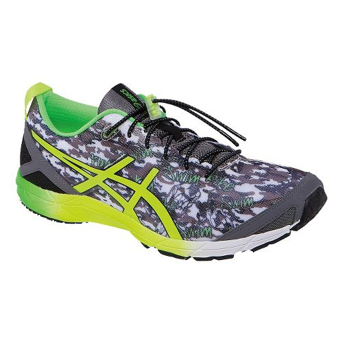 Mens ASICS GEL-Hyper Tri Running Shoe - Black/Flash Green 12.5
