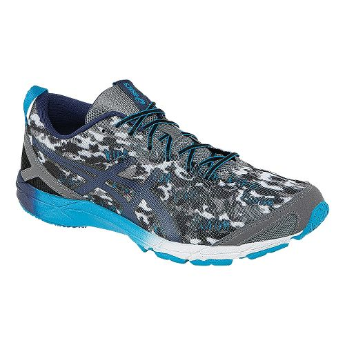 Mens ASICS GEL-Hyper Tri Running Shoe - Carbon/Blue 10.5