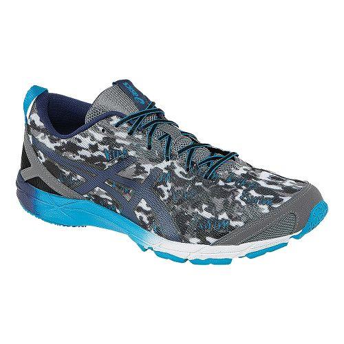 Mens ASICS GEL-Hyper Tri Running Shoe - Carbon/Blue 6