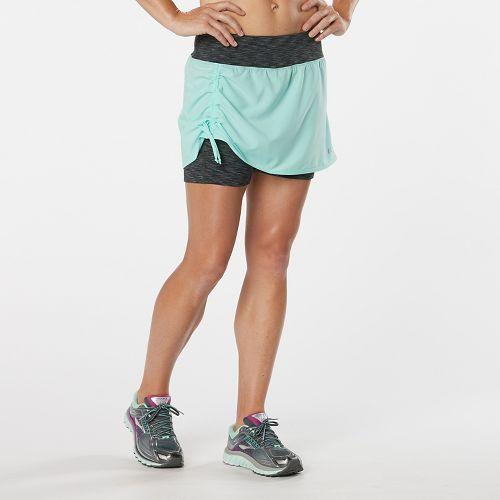 Womens R-Gear Winning Combo Skort Fitness Skirts - Aqua Sea/Heather Charcoal S