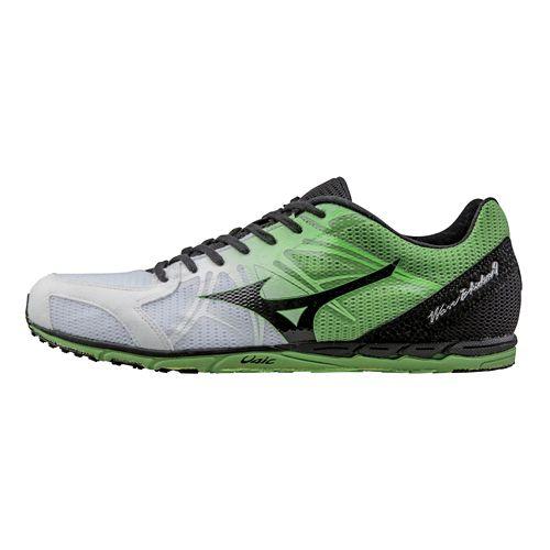 Unisex Mizuno Wave Ekiden 9 Racing Shoe - White Black 7.5