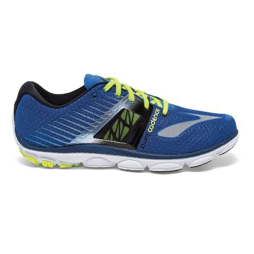 Mens Brooks PureCadence 4 Running Shoe - Electric Brooks/Black 12