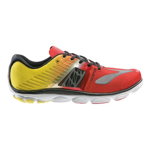 Mens Brooks PureCadence 4 Running Shoe - Red/Yellow 10