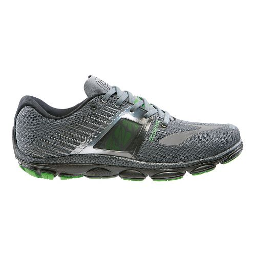 Mens Brooks PureCadence 4 Running Shoe - Urban Grey/Green 8.5