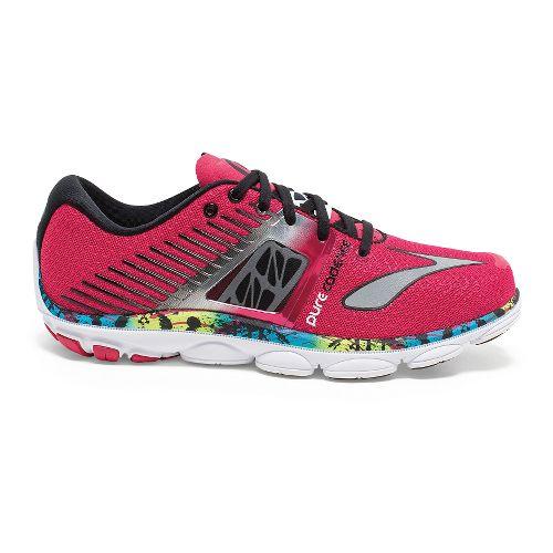 Womens Brooks PureCadence 4 Running Shoe - Virtual Pink/Black 8