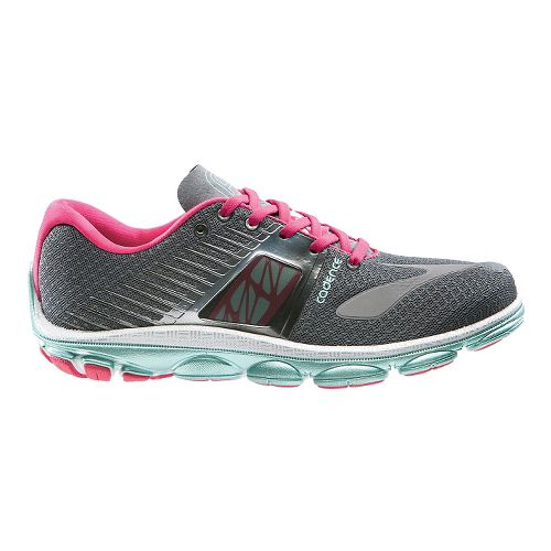 Womens Brooks PureCadence 4 Running Shoe - Urban Grey/Raspberry 12