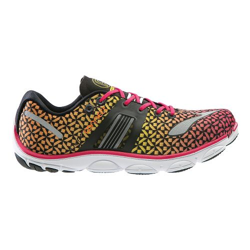 Womens Brooks PureConnect 4 Running Shoe - Pink/Yellow 9.5