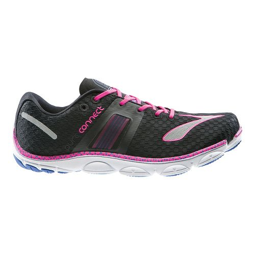 Womens Brooks PureConnect 4 Running Shoe - Black/Pink 5.5