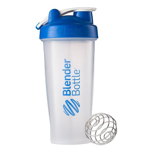 BlenderBottle Classic 28 ounce with Loop Hydration - Clear Blue