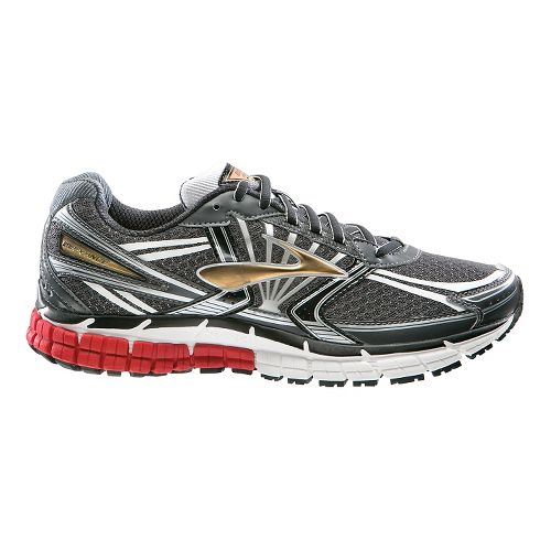 Mens Brooks Defyance 8 Running Shoe - Anthracite/Red 9.5