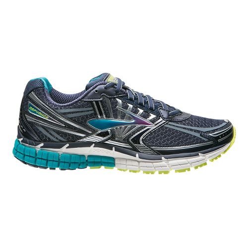 Womens Brooks Defyance 8 Running Shoe - Navy/Teal 11.5