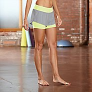 """Womens R-Gear Mixed Message Striped 2-in-1 4"""" Shorts"""