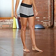 "Womens R-Gear Mixed Message Striped 2-in-1 4"" Shorts"