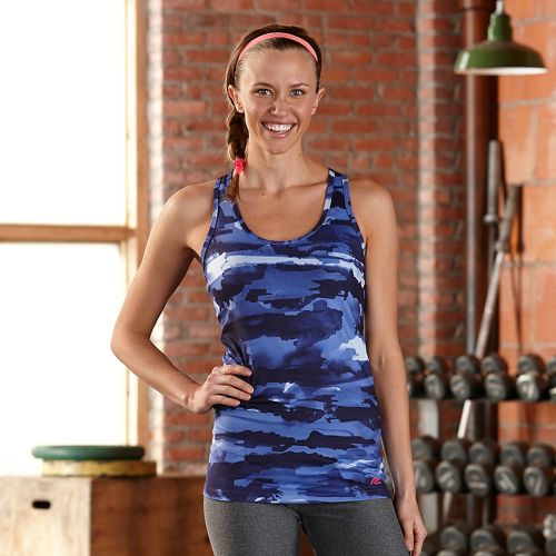 Womens R-Gear Urban Appeal Printed Racerback Tanks Technical Top - Midnight Blue/Camo S