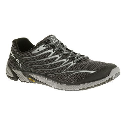 Mens Merrell Bare Access 4 Trail Running Shoe - Black/Dark Grey 9
