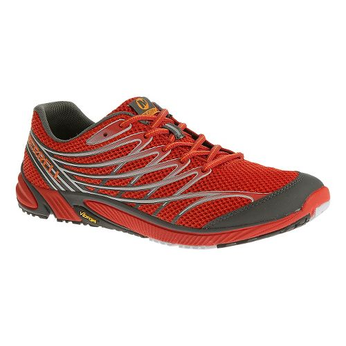 Mens Merrell Bare Access 4 Trail Running Shoe - Red/Black 8.5