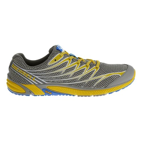 Mens Merrell Bare Access 4 Trail Running Shoe - Yellow/Blue 15