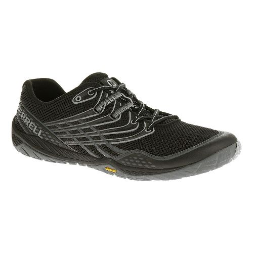 Mens Merrell Trail Glove 3 Trail Running Shoe - Black/Light Grey 12