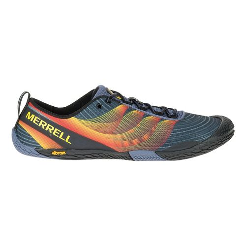 Mens Merrell Vapor Glove 2 Trail Running Shoe - Grey/Spicy Orange 12