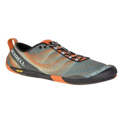 Mens Merrell Vapor Glove 2 Trail Running Shoe - Black/Castle Rock 14