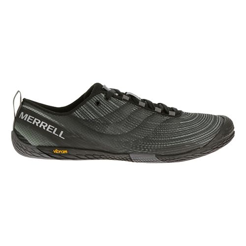 Mens Merrell Vapor Glove 2 Trail Running Shoe - Grey/Spicy Orange 7