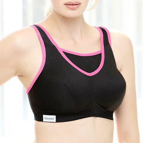 Womens Glamorise No-Bounce Cami D/DD/F/G Sports Bras - Black 34F