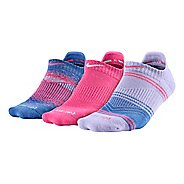 Womens Nike Dri-FIT Graphic No Show 3 pack Socks