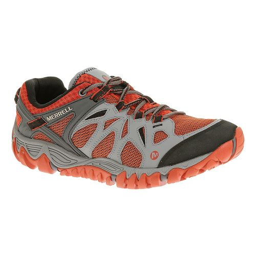 Mens Merrell All Out Blaze Aero Sport Hiking Shoe - Grey/Red Clay 7.5