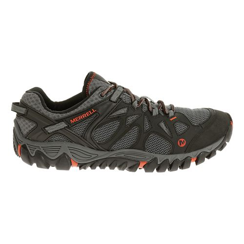 Mens Merrell All Out Blaze Aero Sport Hiking Shoe - Grey/Red Clay 14