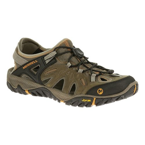 Mens Merrell All Out Blaze Sieve Hiking Shoe - Brindle 10