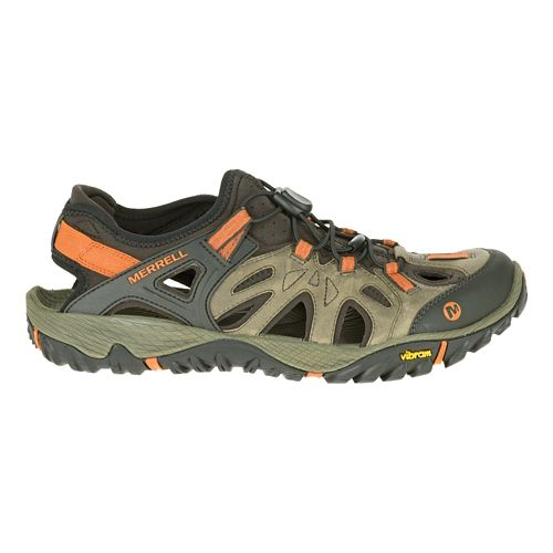 Mens Merrell All Out Blaze Sieve Hiking Shoe - Light Brown 7.5