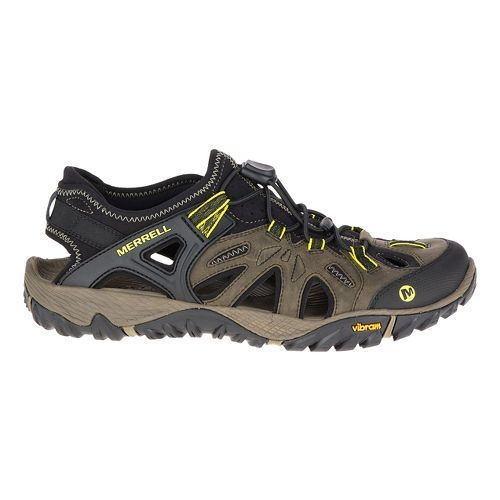 Mens Merrell All Out Blaze Sieve Hiking Shoe - OLIVE NIGHT 14