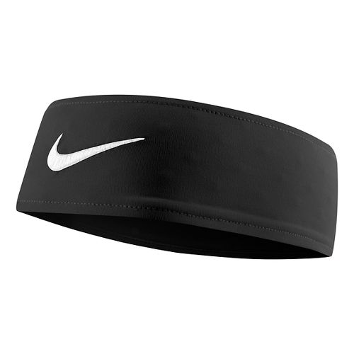 Womens Nike Fury Headband Headwear - Black/White
