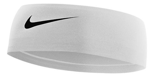 Womens Nike Fury Headband Headwear - White/Black