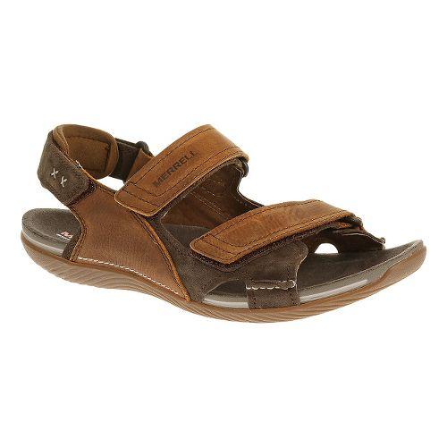 Mens Merrell Bask Duo Sandals Shoe - Clay 11