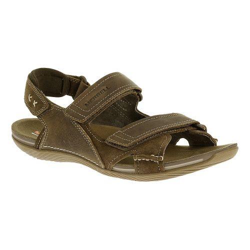 Mens Merrell Bask Duo Sandals Shoe - Moss 8