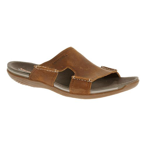 Mens Merrell Bask Slide Sandals Shoe - Clay 8