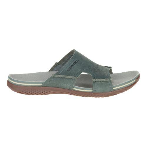 Mens Merrell Bask Slide Sandals Shoe - Sage 8