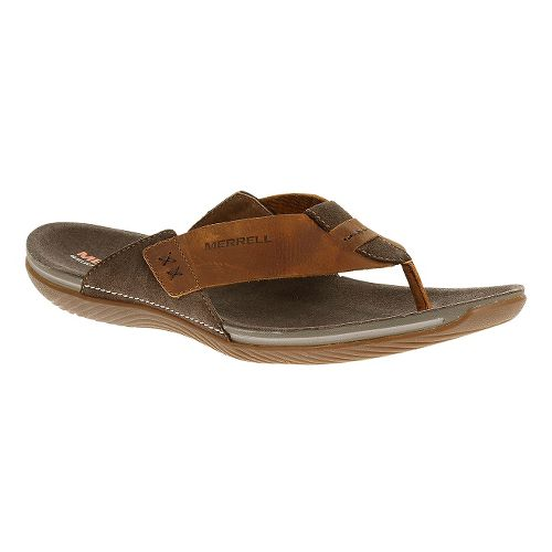 Mens Merrell Bask Thong Sandals Shoe - Clay 10